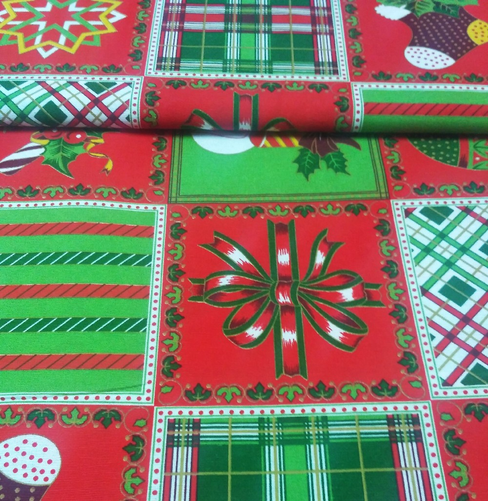 bavlna režná vánoce-patchwork