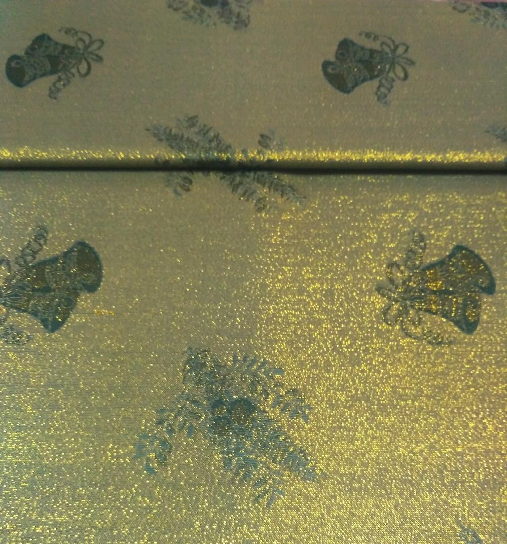 pol.zelený zlatý lesk /vánoce š.160 cm