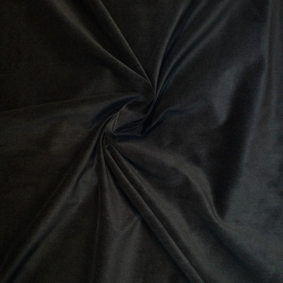 samet černý elastický