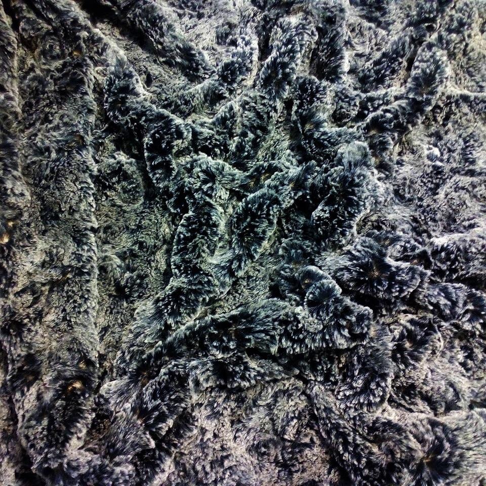 plyš černo-bílé žíhání flex