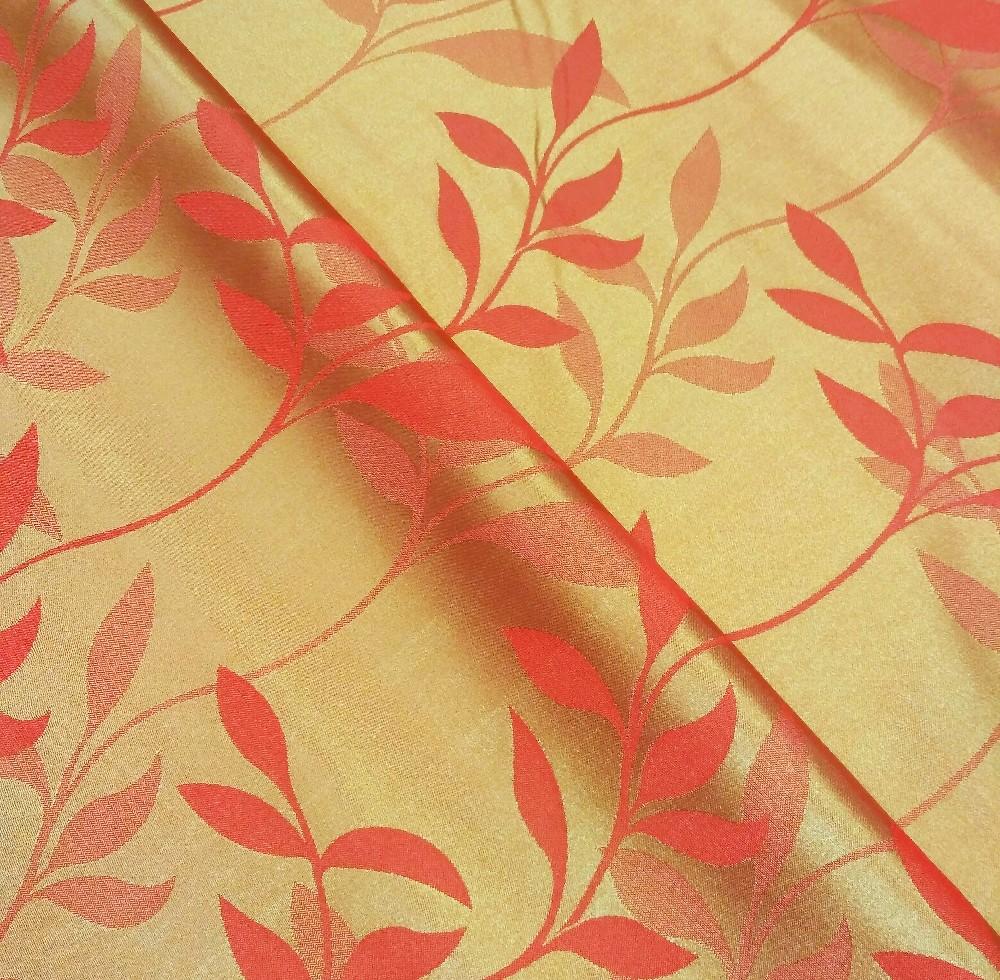 dekoračka oranžová listy š.160cm