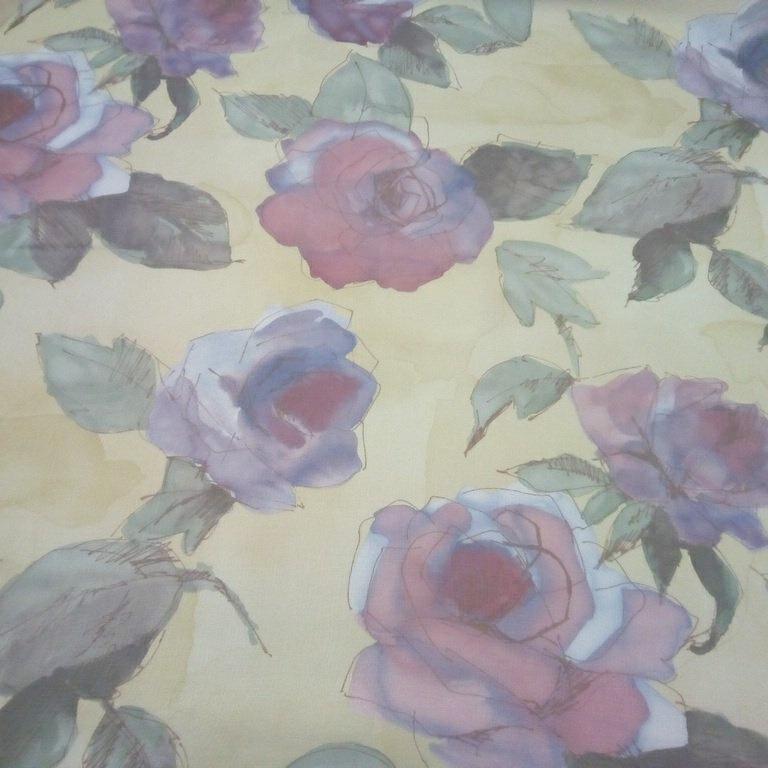 zaclona béžová bord.růže1