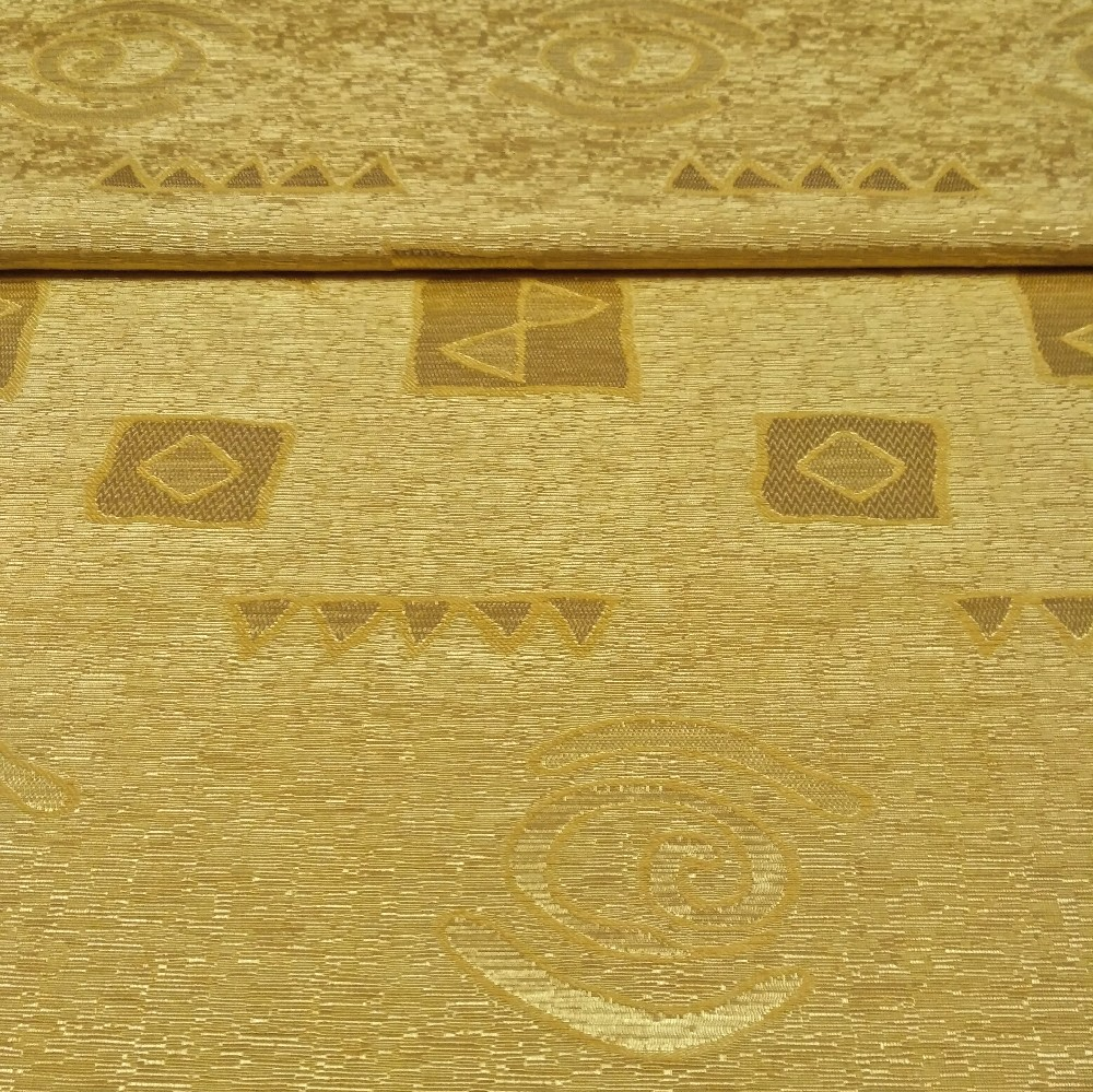 dekoračka žlutá ornamenty š.140cm