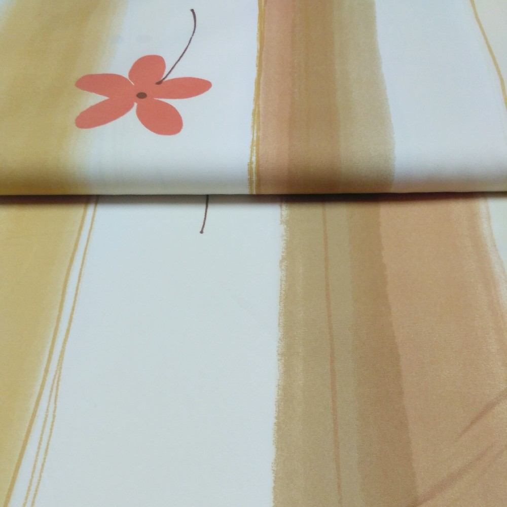 dekoračka oran.béž.abst.vzor š.160