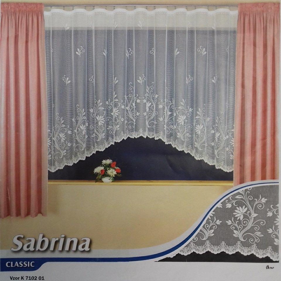 záclona T Sabrina 150v.*350š. 1.jak.