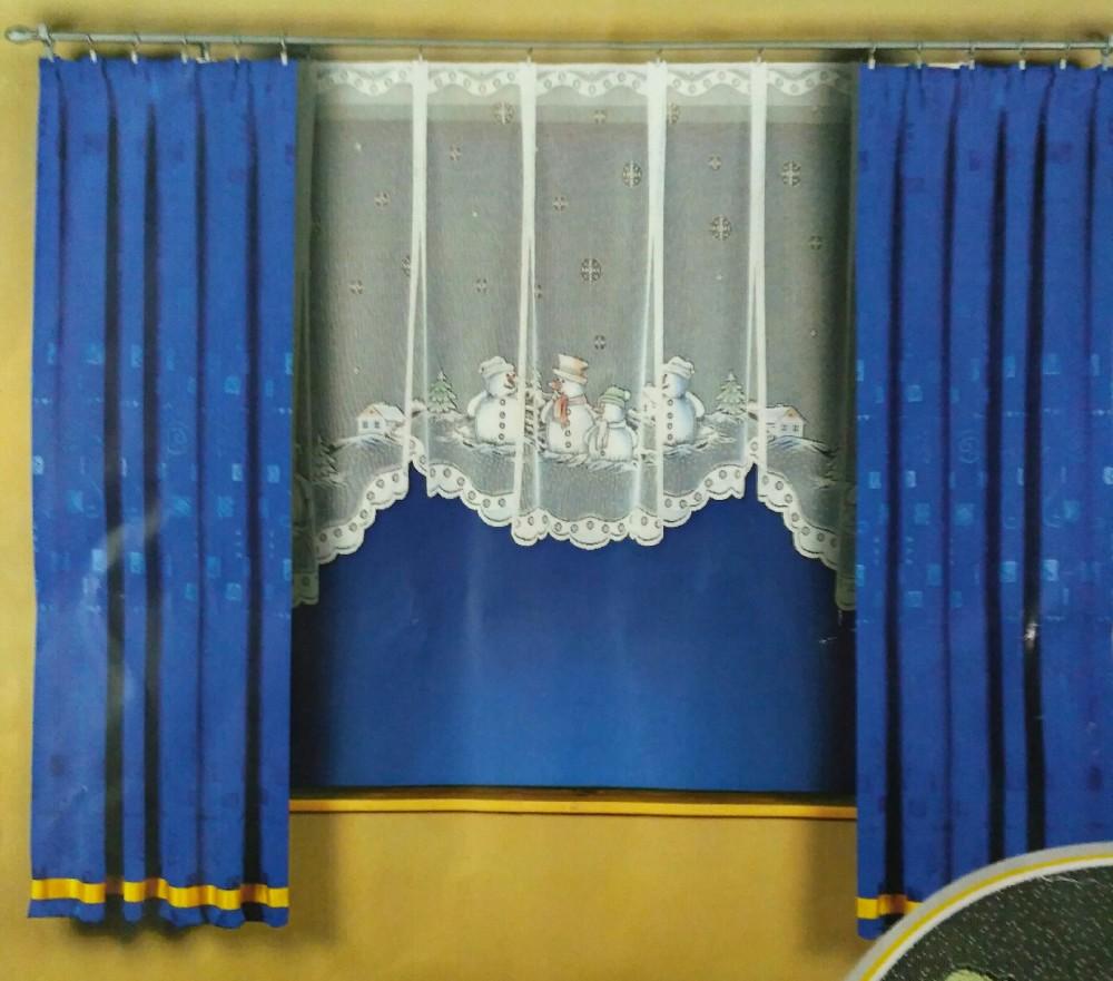 záclona T sněhuláci340*130