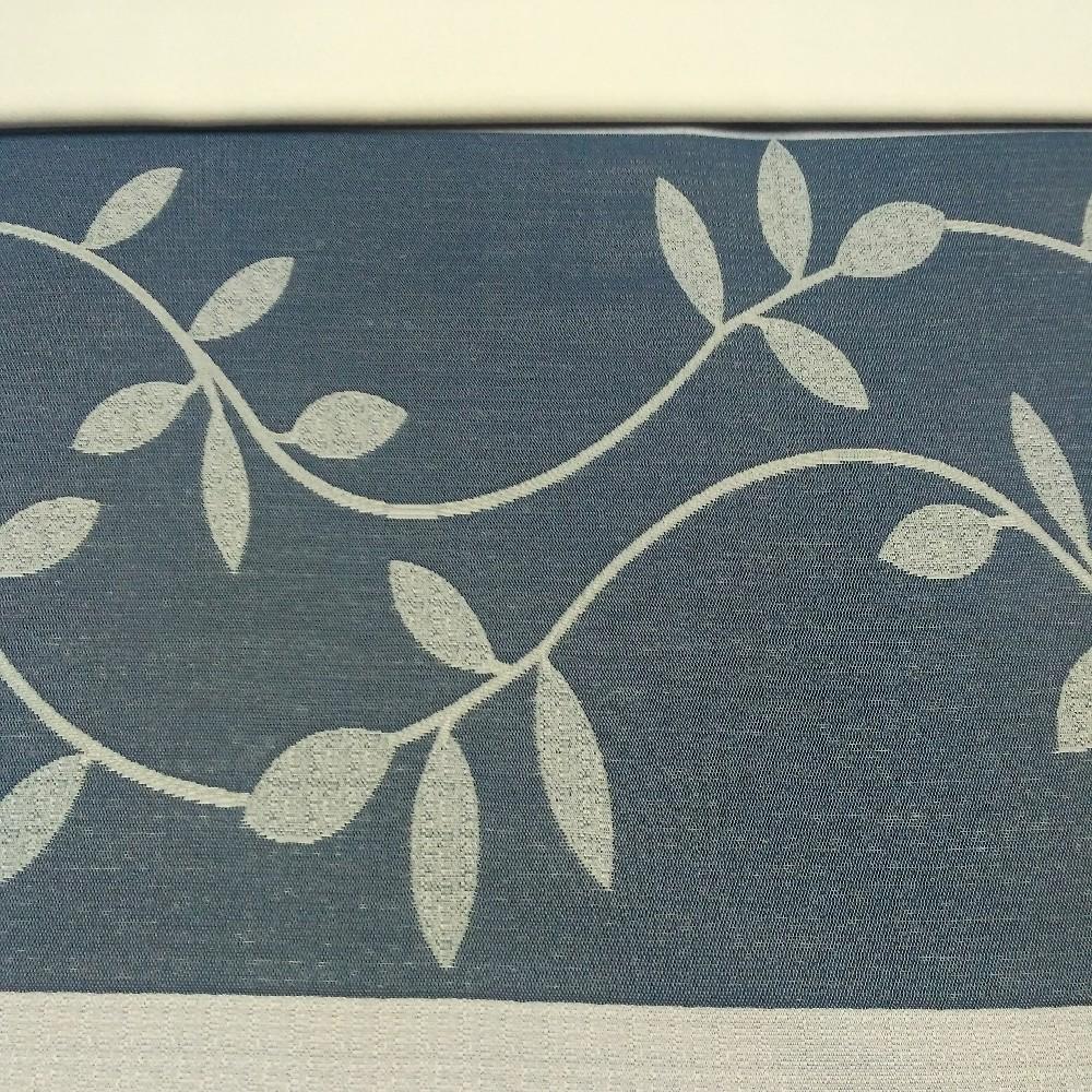 dekoračka 6269 400 modro.béž.pruhy lupín