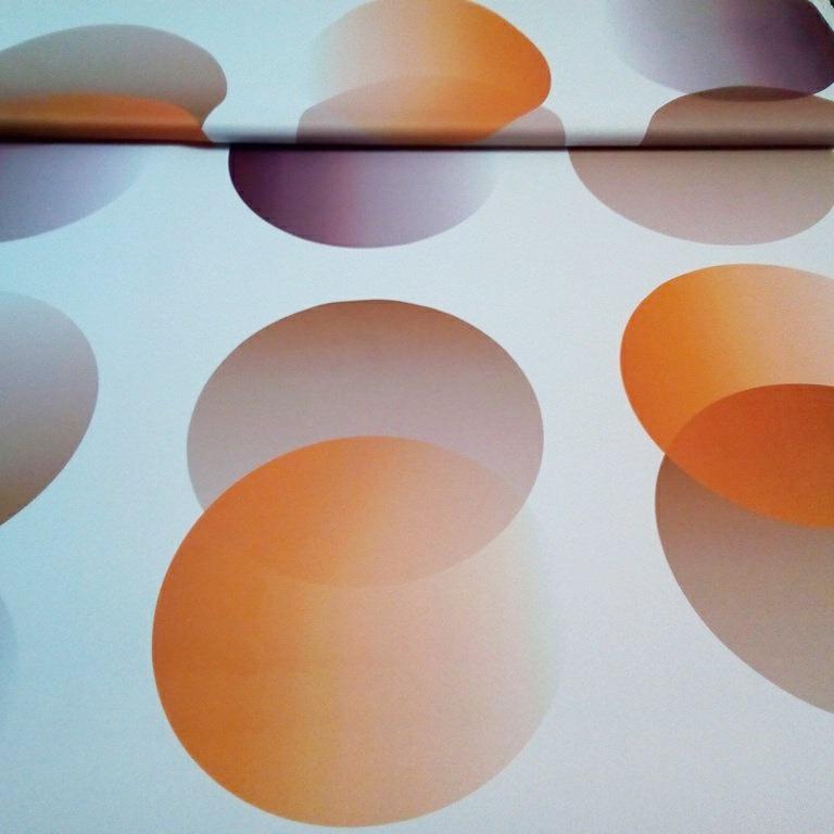 dekoračka blackout oranžhněkola š.150
