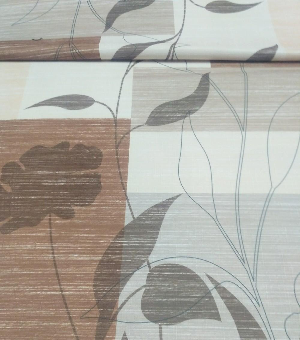 dekoračka Elbrus tisk béž.hnědé květy 15