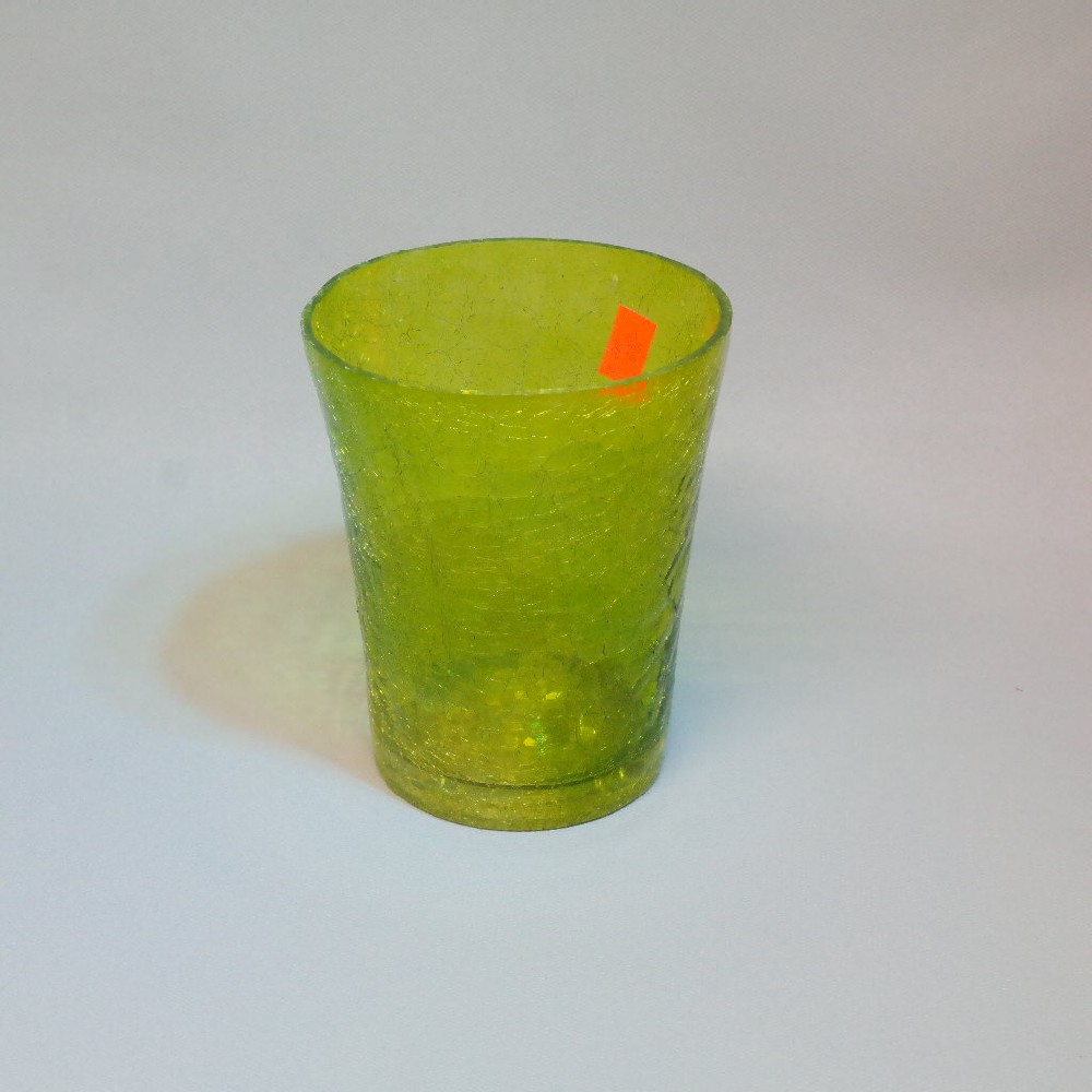 sklo barevný květináč
