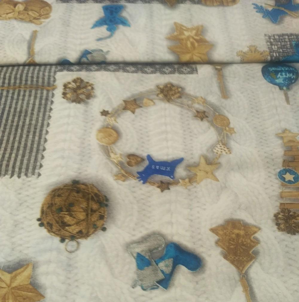 bavl/pes vánoce modré