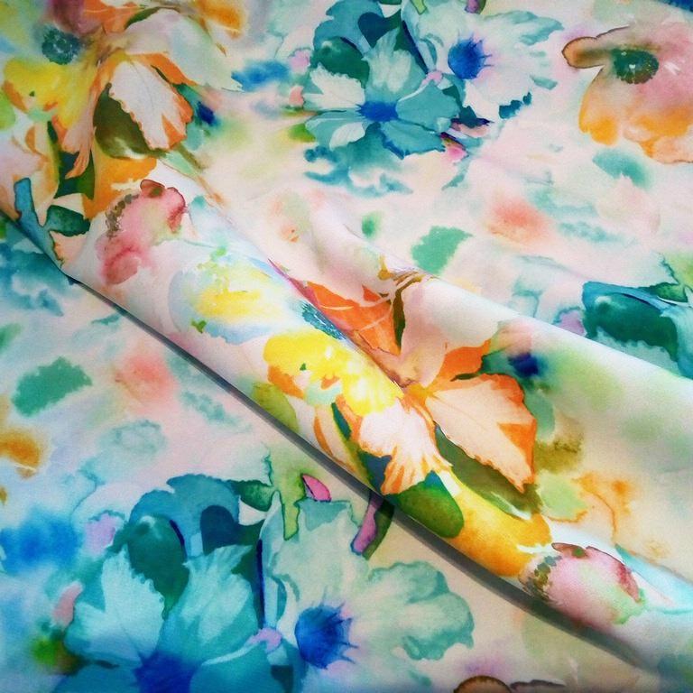 polyester digi žl/zal květ