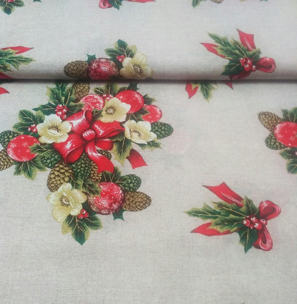 béžová-vánoční kytice