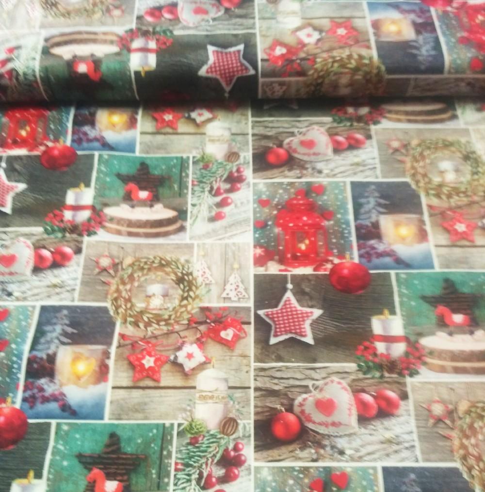 vánoční okénka s ozdobami