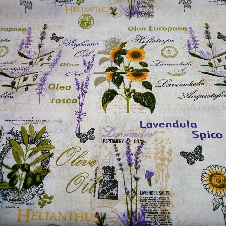 bavlna oliva,levandule,slunečnice