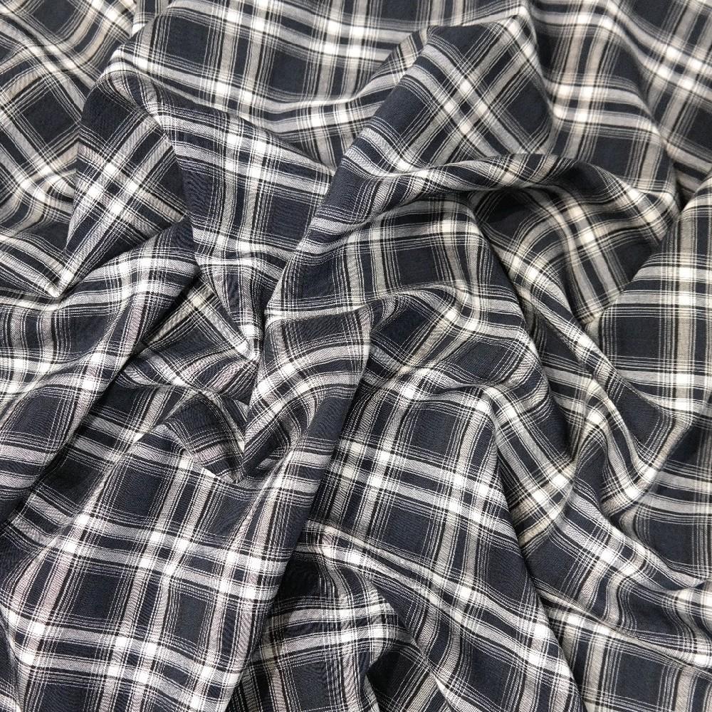 Košilovina modro bílá kostka