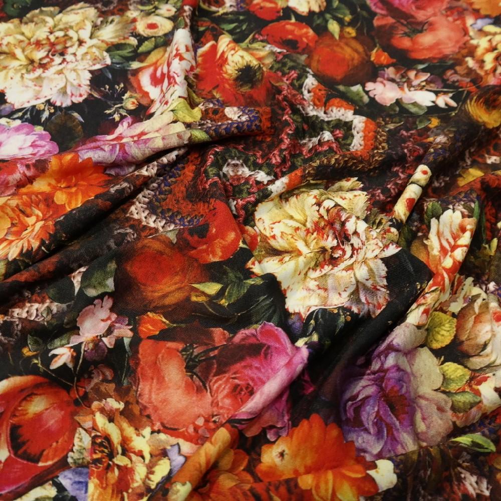 Úplet barevné květy vzory