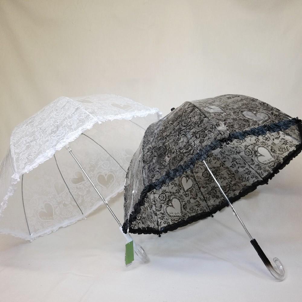 deštník průhledný srdce