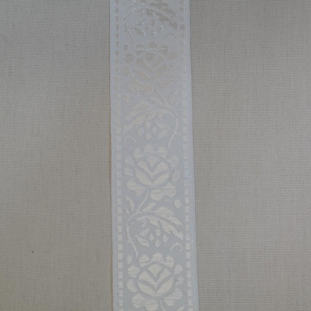 stuha vyšívaná-bílá výšivka