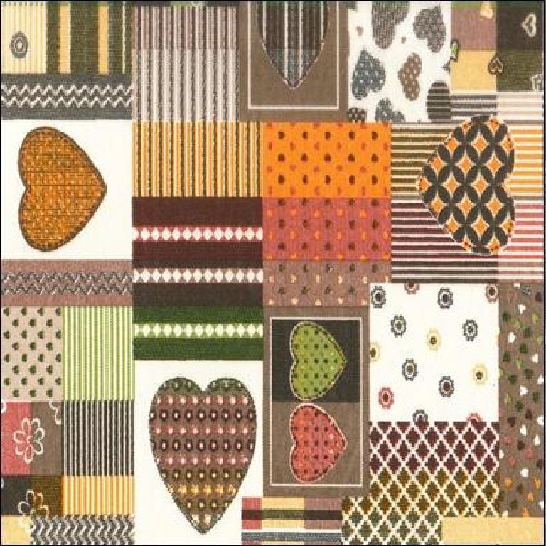 loneta srdce patchwork 140 cm