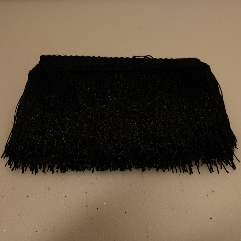 třásně černé 10cm