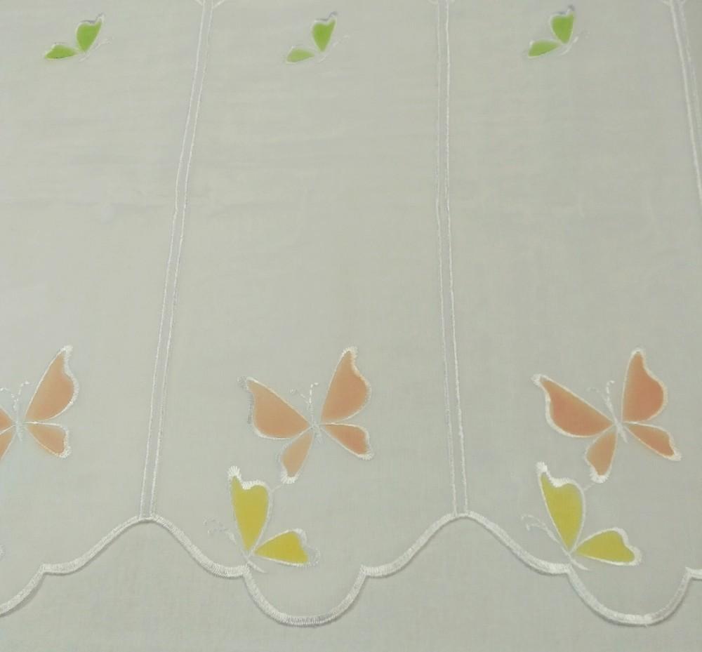 záclona Om voál  845 motýlci  0,45cm