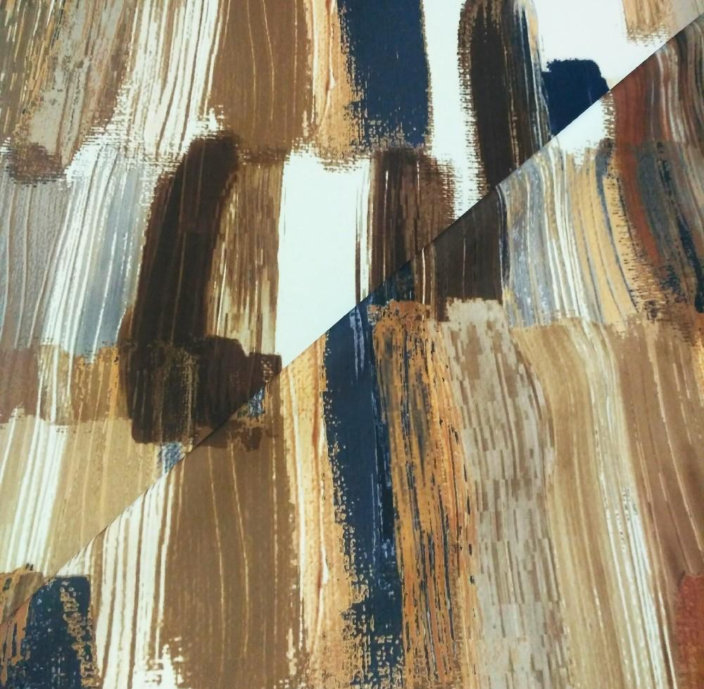 dekoračka ingo hnědo krémový vzor 145 cm