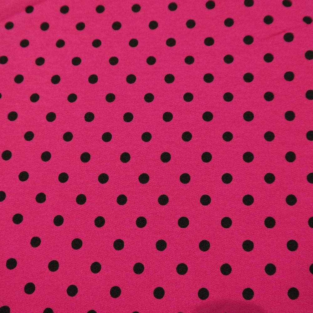 úplet růžový černý puntík