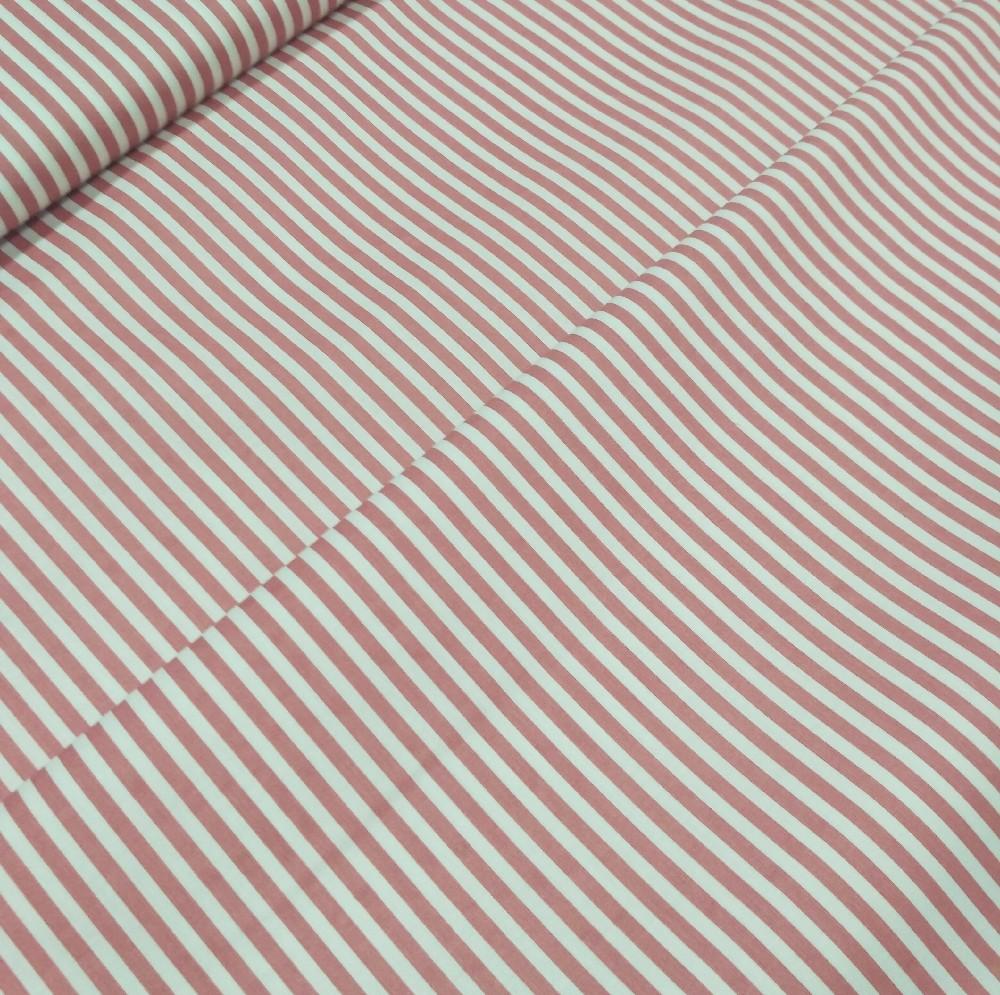 bavlna růžovobílý pruh