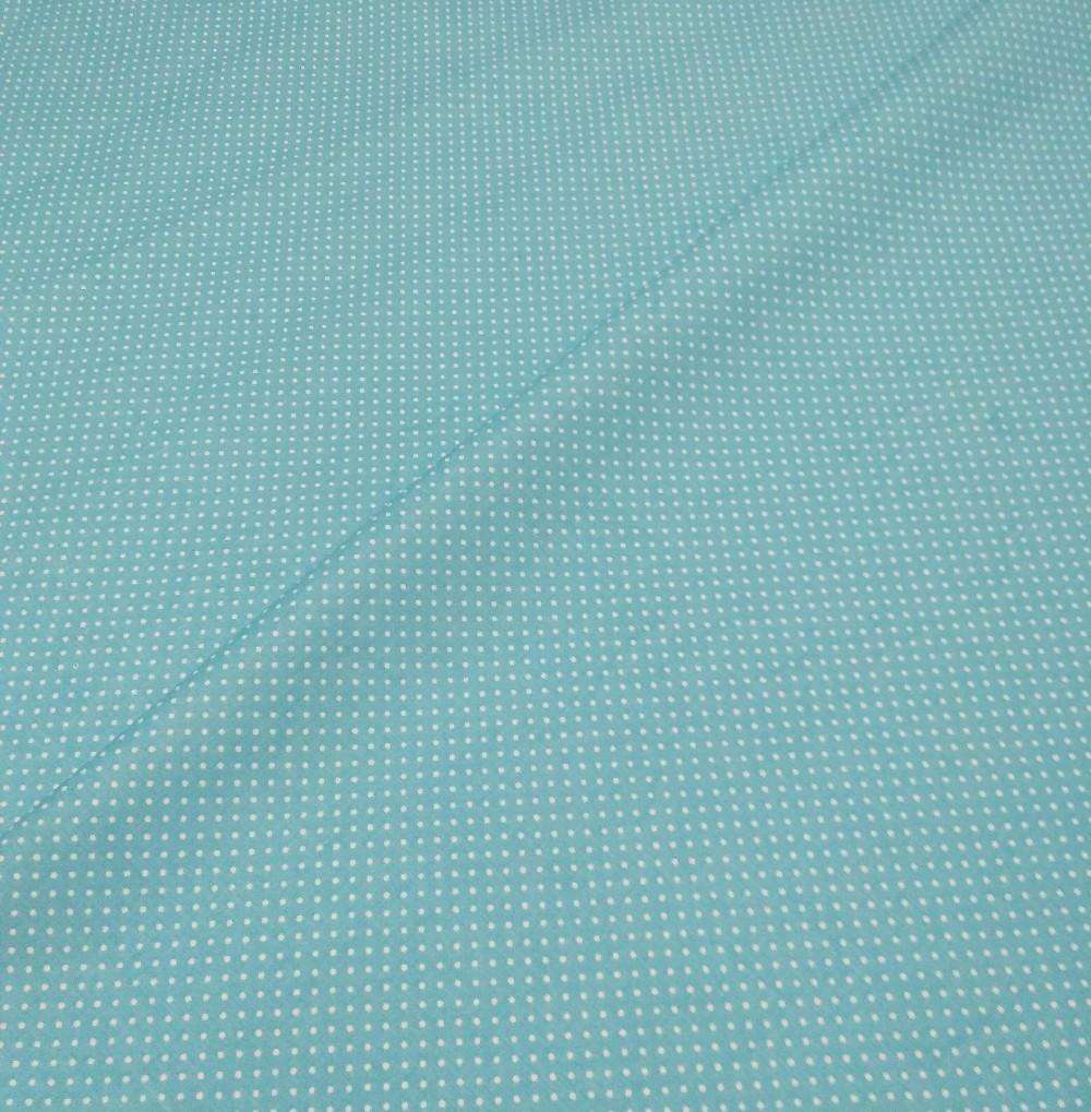 bavlna tyrkys puntík