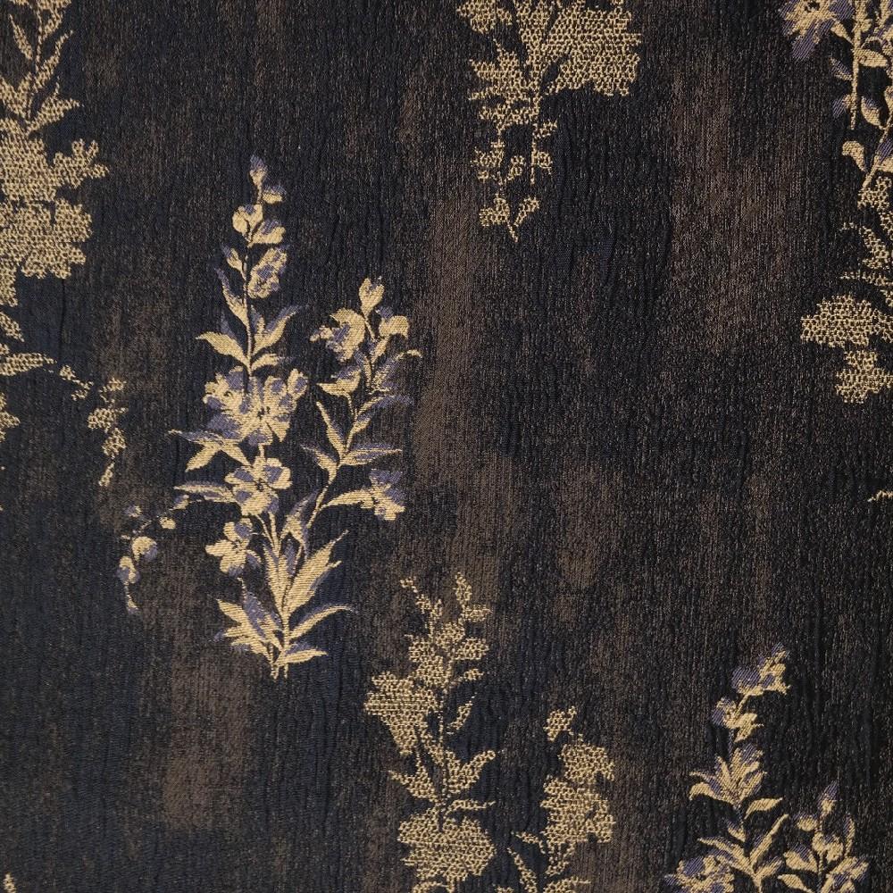 žakár modrý s květinou