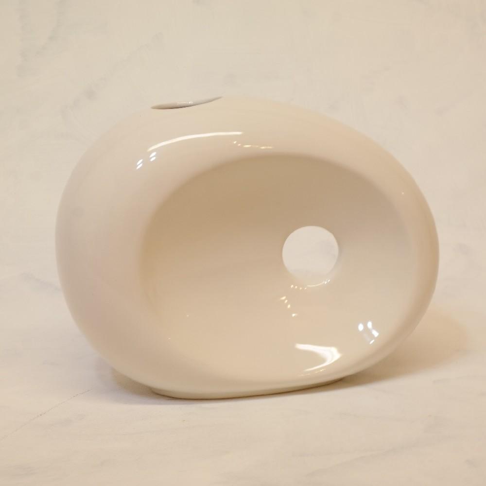 váza IVO bílá otvor 12x 25x20