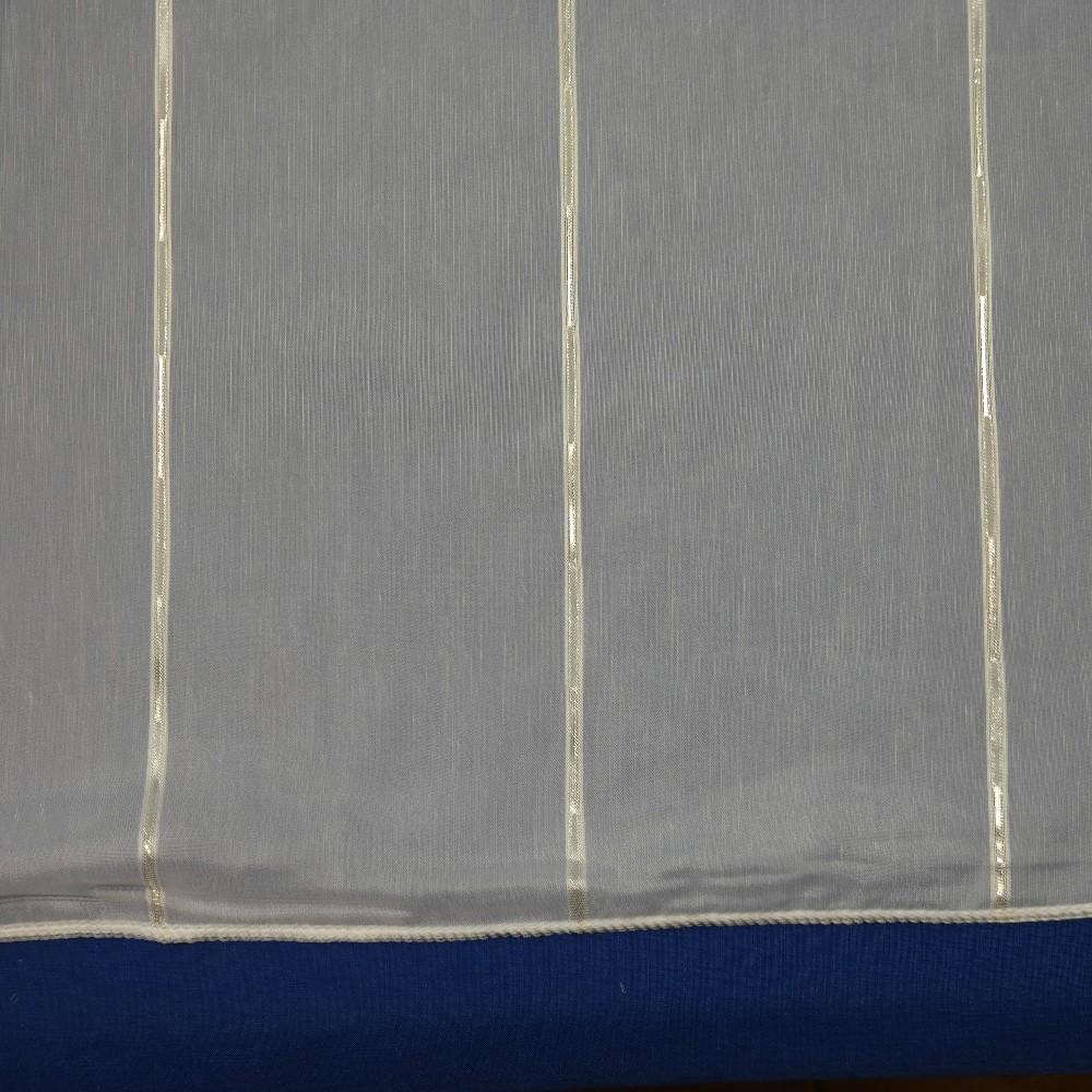 záclona 305 cm zlato bílá 1467 Ve