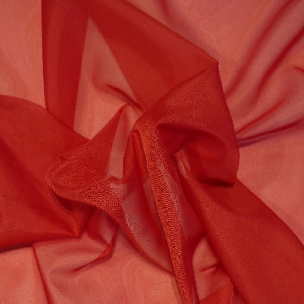 záclona 150 cm voál červený