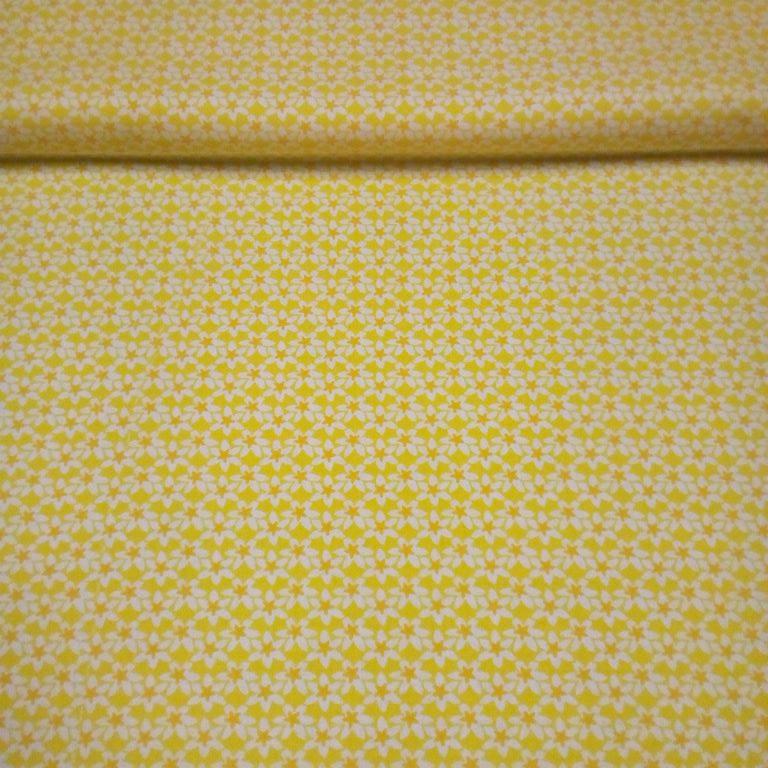bavlna žluté kvítky 140 cm
