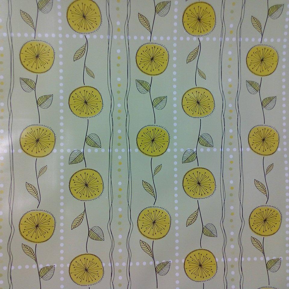 Folie PVC zelený citrony š.130