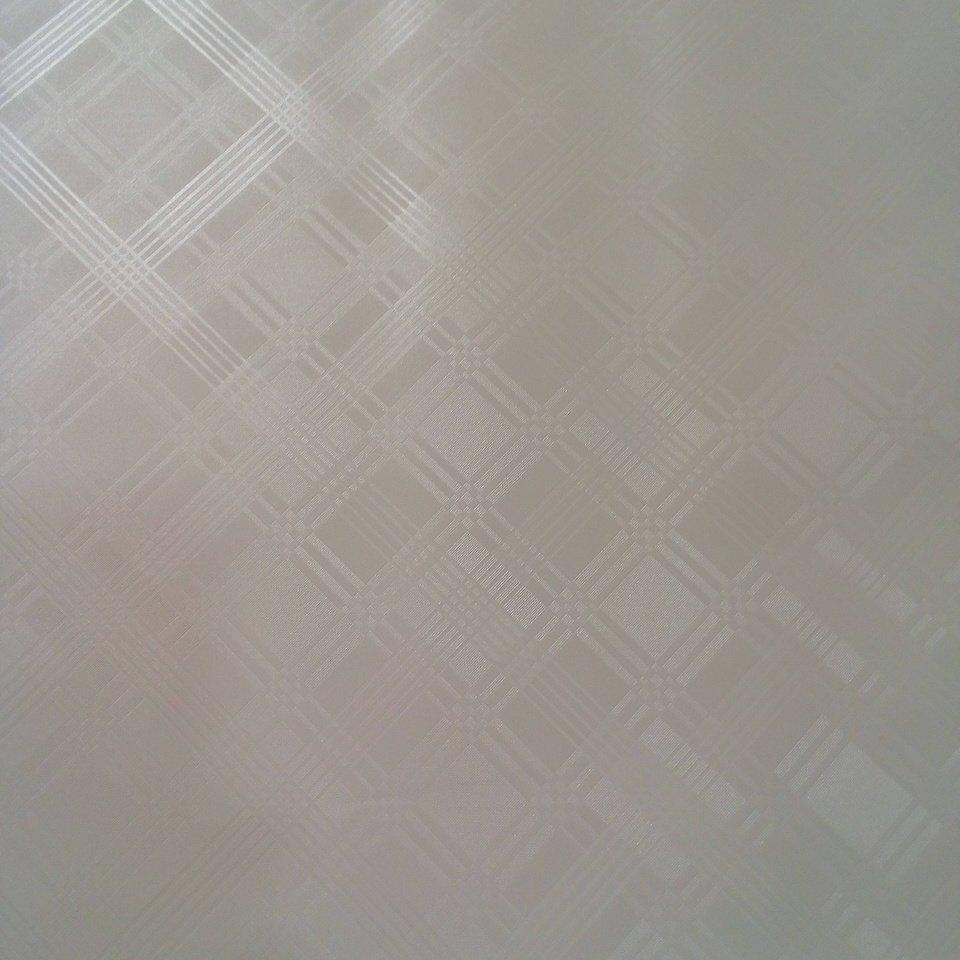 ubrus PVC bílý vytlač. geomet.vzor