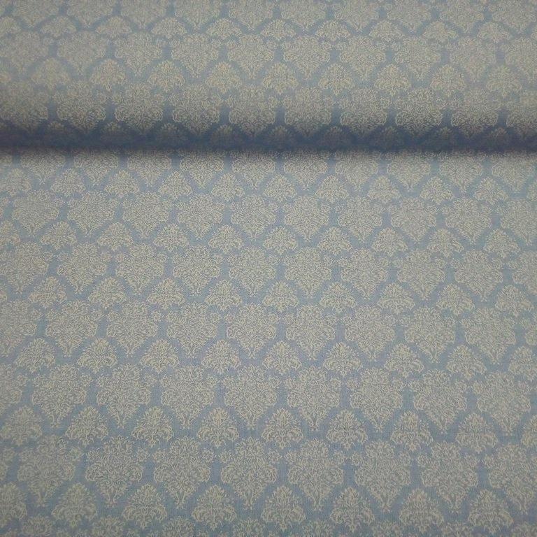 bavlna modrá bílý ornament 140 cm