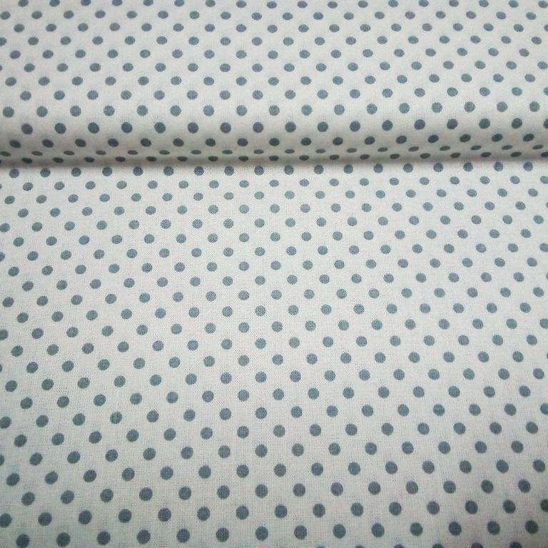 bavlna bílá šedý puntík 140 cm