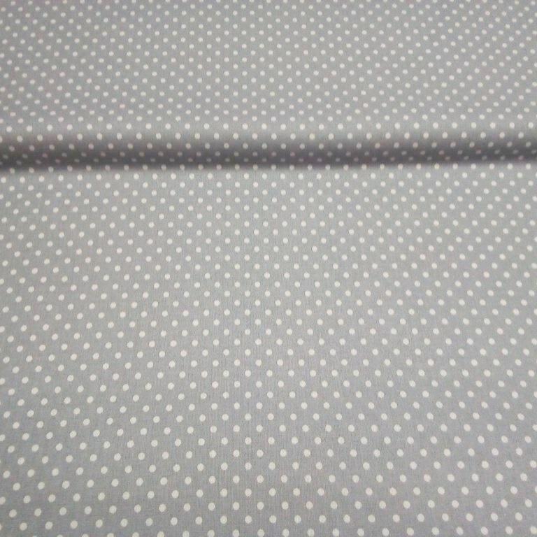 bavlna šedá bílý puntík 140 cm