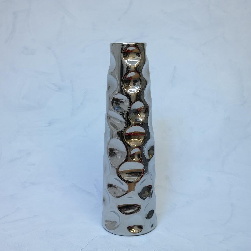 váza stříbrná42cmEurofir.