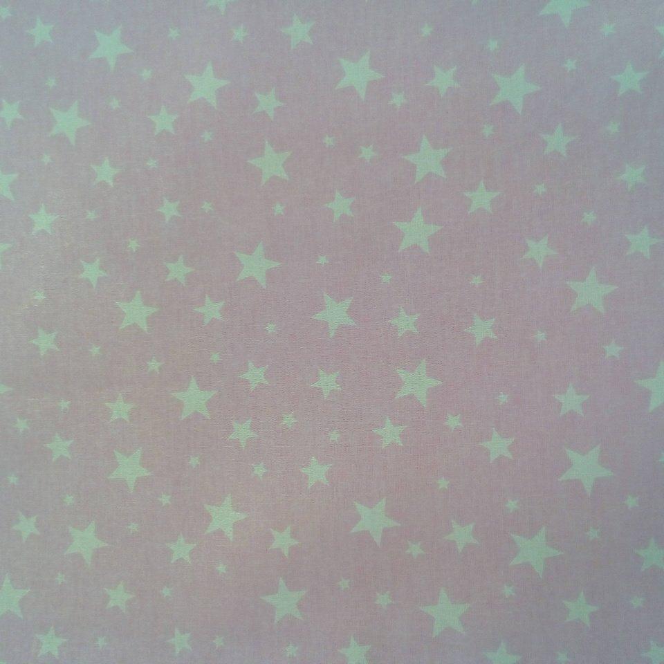 Bavlna růžová bílé hvězdy