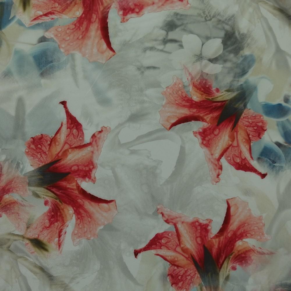 šatovka bílošedá červený,modrý květ