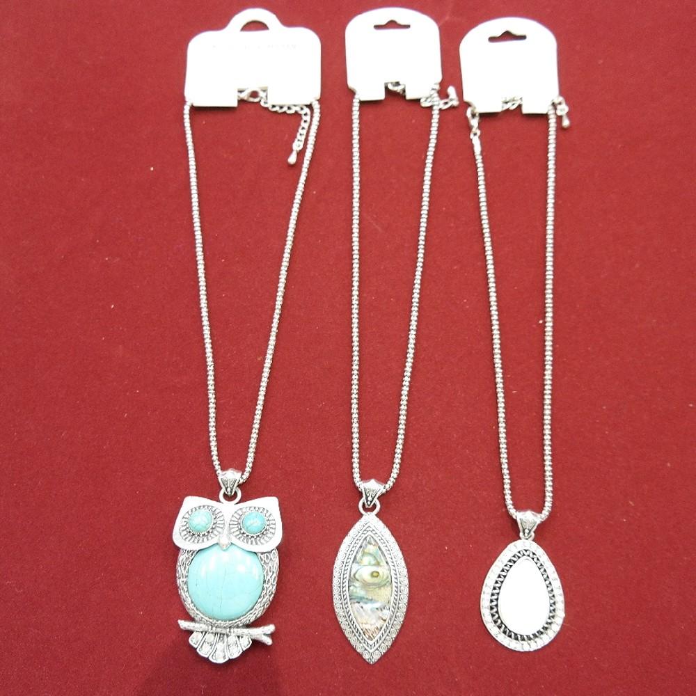náhrdelník sova/kapky