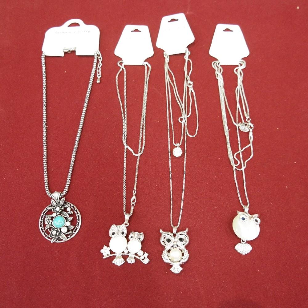 náhrdelník/sovička -kamínky