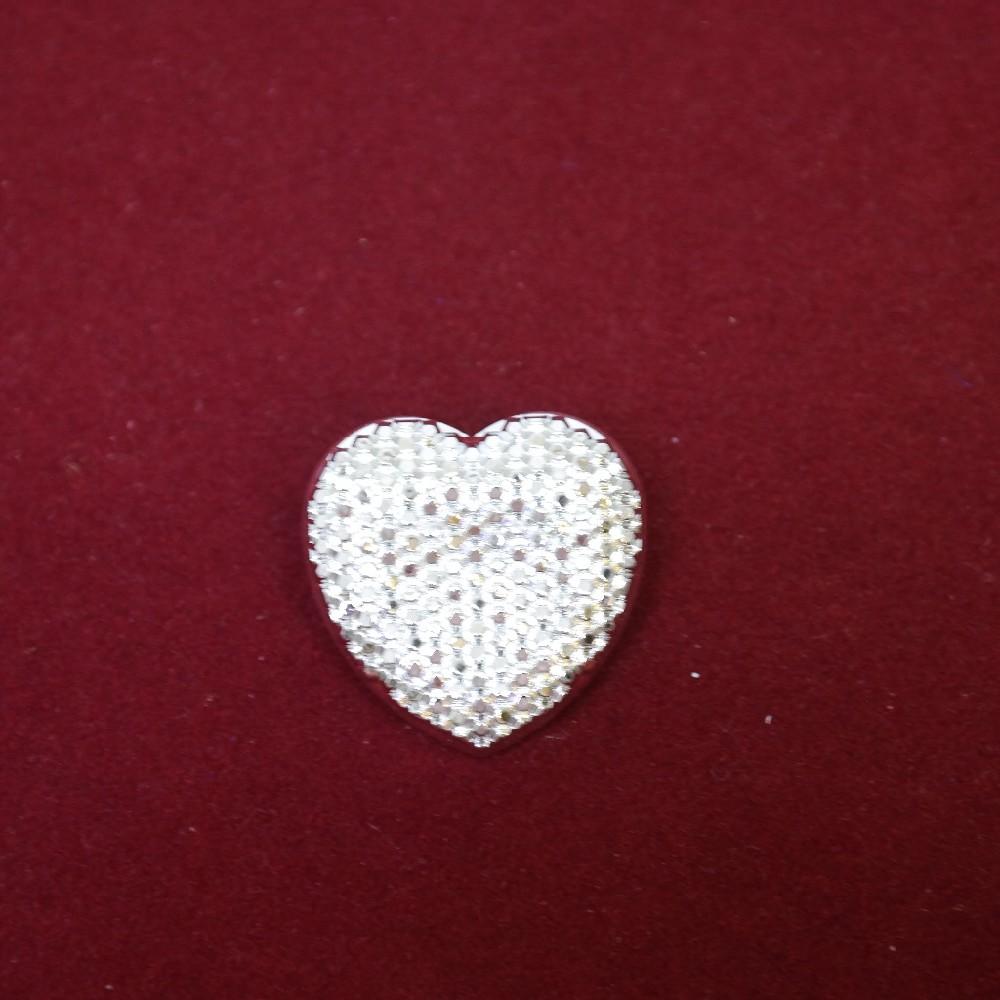 brož srdce stříbrné