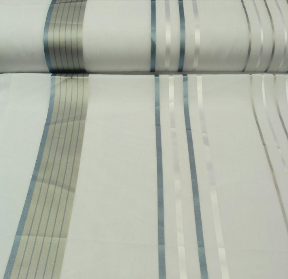 záclona 7087/300 modré pruhy