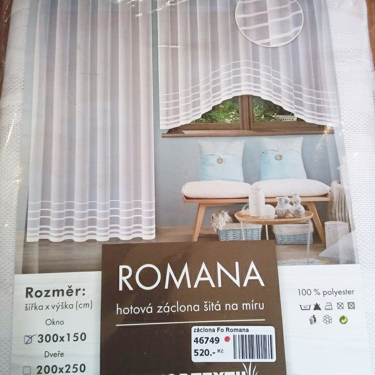 záclona hotová Fo Romana 380x160 cm