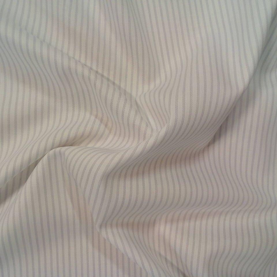Košilovina bílá šedý proužek