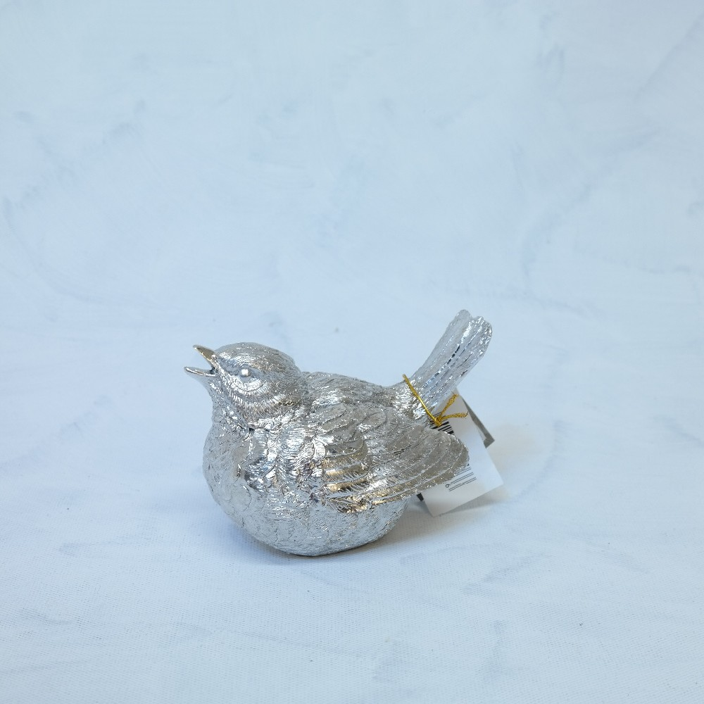 ptáček stříbrný15x12cm